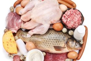 fresh whole chicken meat and fish B-12 source