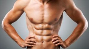 Low Body Fat fit man with abs