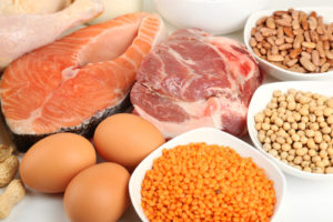 protein rich food salmon soy eggs meat