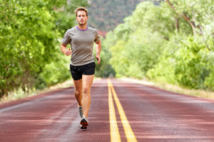 fit man running