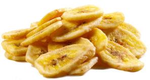 sliced banana chips