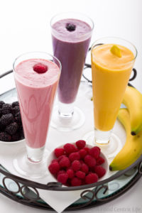 fruit smoothies banana berries