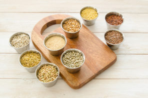 grains in containers