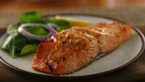 seasoned salmon fillet meal intermittent fasting