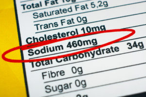 food nutrition facts on packaging sodium content