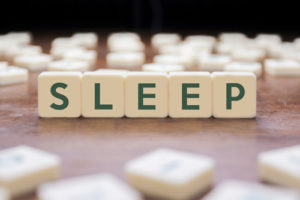 sleep spelled out with blocks