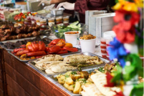 food buffet, abundance of food