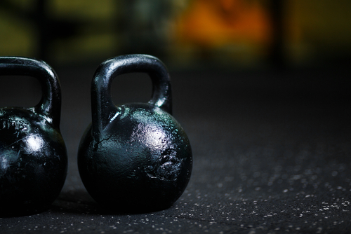 set of kettle bell weights