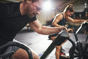 exercising on stationary bikes stronger with Progentra