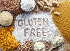 gluten free on flour, pasta and grains