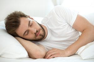 man sleeping and better with Progentra