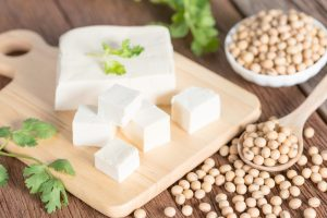 fresh tofu and soy beans