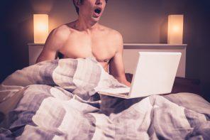 masturbating in bed