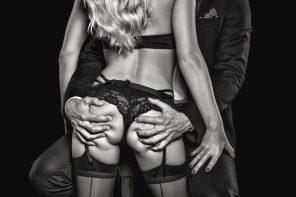 grabbing woman's butt