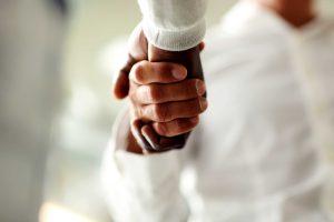 firm hand shake